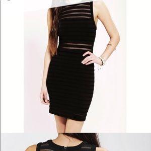 UO Silence + Noise black mesh mini dress sz S